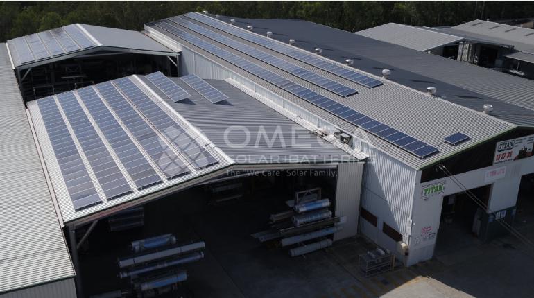 Titan Sheds & Garages Solar Installation