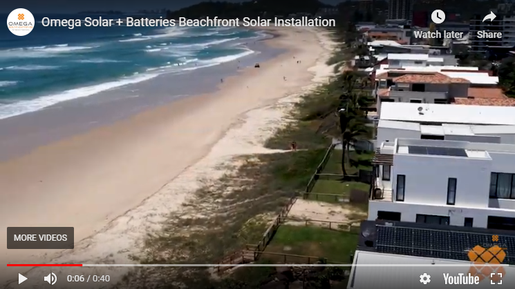 Omega solar beach installation