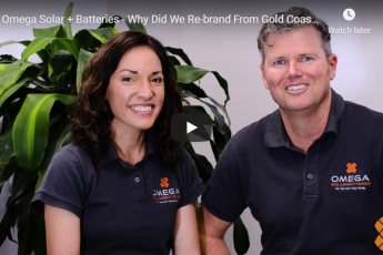 Omega Solar + Batteries rebrand from Gold Coast Energy